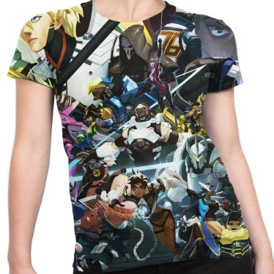 Camiseta Baby Look Feminina Overwatch Over Watch Md05