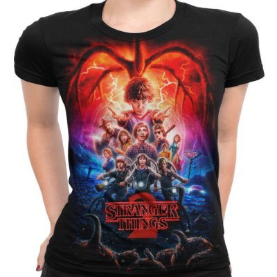 Camiseta Baby Look Feminina Série Stranger Things Md03