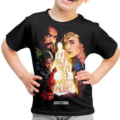 Camiseta Infantil Liga da Justiça Md04