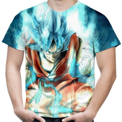 Camiseta Masculina Goku Dragon Ball Super MD08
