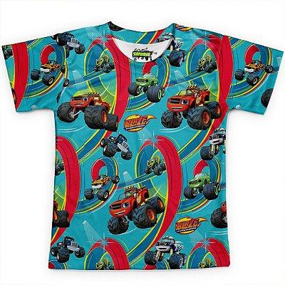Camiseta Infantil Blaze And The Monster Machines Md02