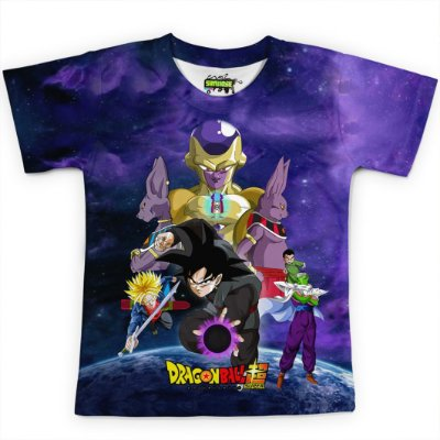 Camiseta Infantil  Goku Dragon Ball Super MD11