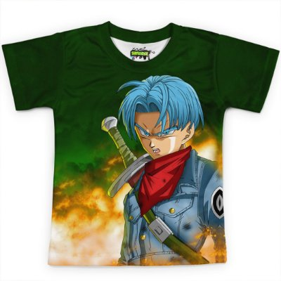 Camiseta Infantil Trunks Dragon Ball Super MD7