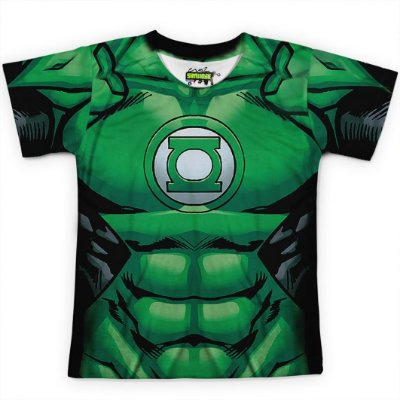 Camiseta Infantil Lanterna Verde Traje