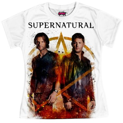 Camiseta Baby Look Serie Supernatural Sobrenatural Md06