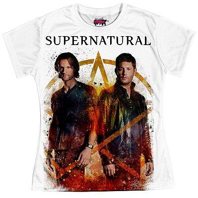 Camiseta Baby Look Serie Supernatural Sobrenatural Md06