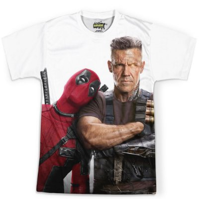 Camiseta Masculina Deadpool Estampa Total MD07