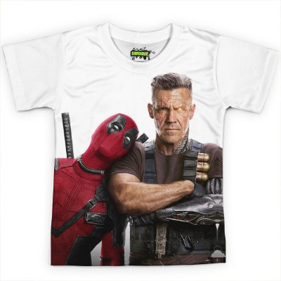 Camiseta Infantil Filme Deadpool Md07