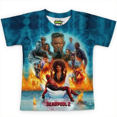 Camiseta Infantil Filme Deadpool Md08
