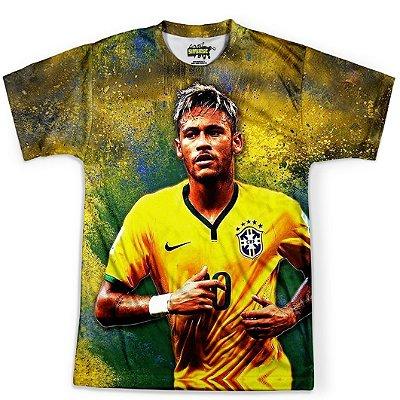 Camiseta Masculina Neymar Brasil Copa Md02
