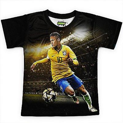 Camiseta Infantil Neymar Brasil Copa Md01