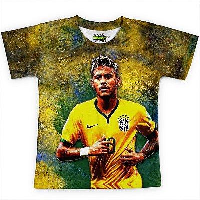 Camiseta Infantil Neymar Brasil Copa Md02