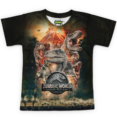 Camiseta Infantil Parque dos Dinossauros Jurassic World Md04