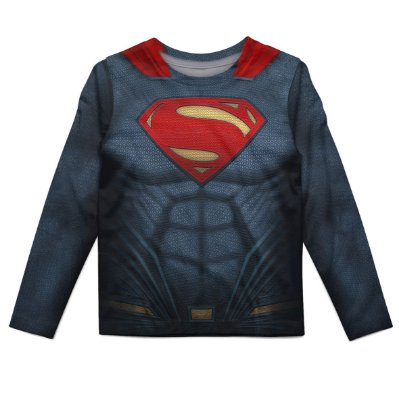 Camiseta Infantil Manga longa Superman MD02