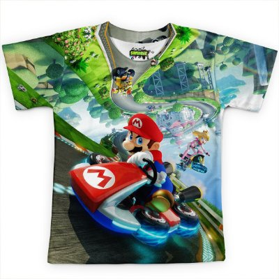 Camiseta Infantil Mario Kart Md01