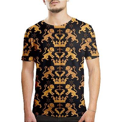 Camiseta Masculina Leão Real