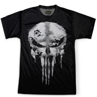 Camiseta Masculina Punisher Traje Justiceiro Estampa Digital