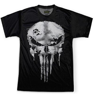 Camiseta Masculina Punisher Traje Justiceiro Estampa Digital