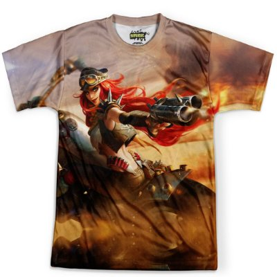 Camiseta Masculina Miss Fortune League Of Legends