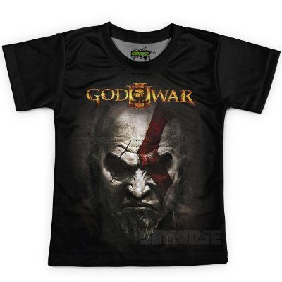 Camiseta Infantil Jogo God of War Md03