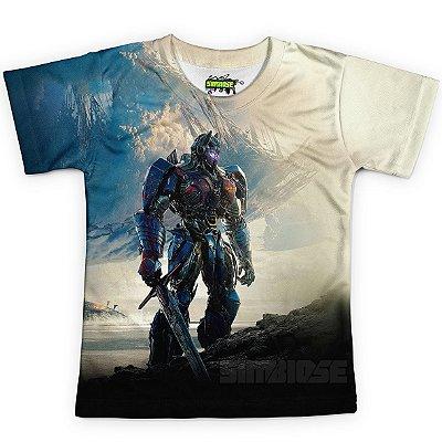 Camiseta Infantil Optimus Prime Transformers MD03