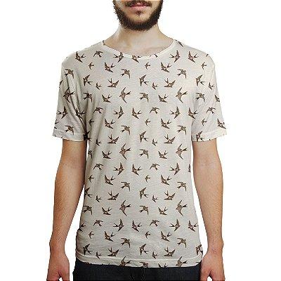 Camiseta Masculina Andorinha Estampa Digital
