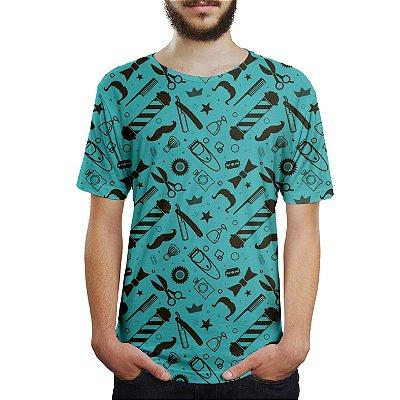 Camiseta Masculina Barbearia Shop Estampa Digital
