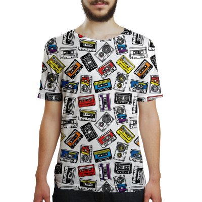 Camiseta Masculina Fita Cassete K7 Estampa Digital