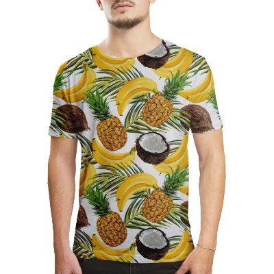 Camiseta Masculina Frutas Estampa Digital