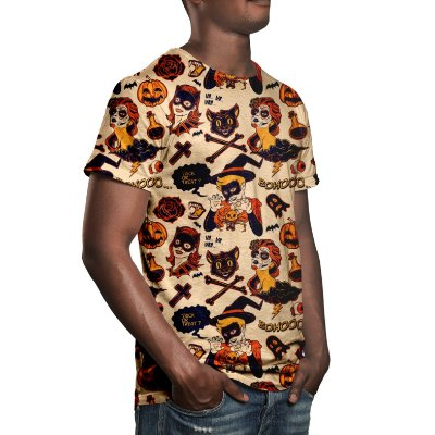 Camiseta Masculina Halloween Estampa Digital