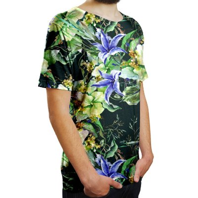 Camiseta Masculina Jardim de Campânula Estampa Digital