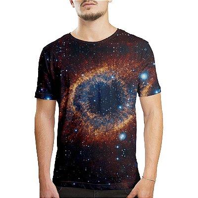 Camiseta Masculina Olho do Universo Estampa Digital