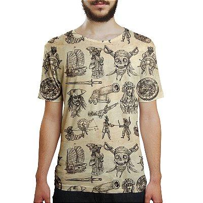 Camiseta Masculina Piratas Estampa Digital