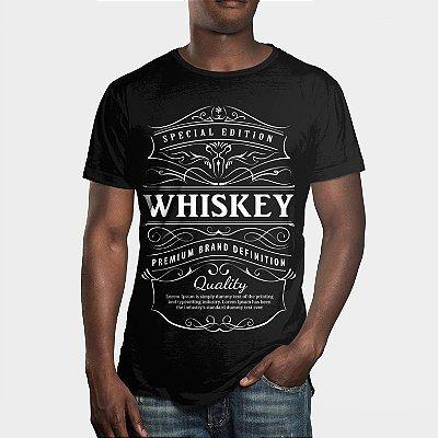 Camiseta Masculina Uísque Whiskey Estampa Digital