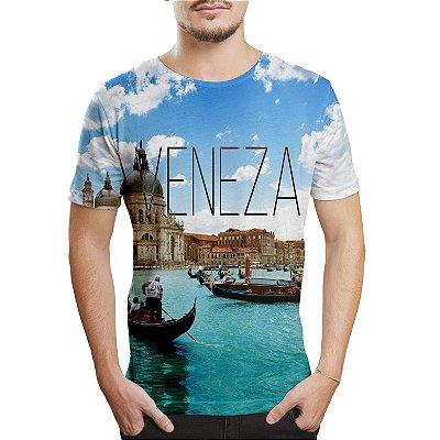 Camiseta Masculina Veneza Estampa Digital