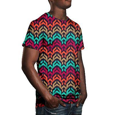 Camiseta Masculina Vetor Tribal Estampa Digital