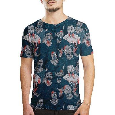 Camiseta Masculina Zumbis Estampa Digital