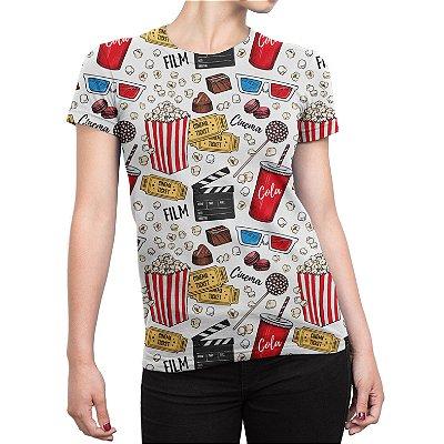 Camiseta Baby Look Feminina Cinema Estampa Total