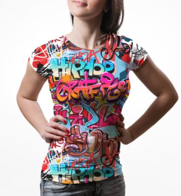 Camiseta Baby Look Feminina Grafite Hip Hop Grafiti Estampa Total
