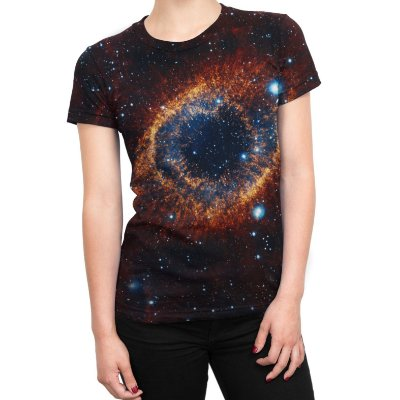 Camiseta Baby Look Feminina Olho do Universo Estampa Total