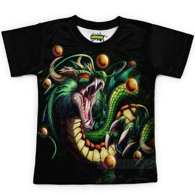 Camiseta Infantil Shenlong Dragon Ball Super MD13
