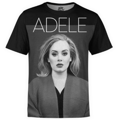 Camiseta masculina Adele Estampa Digital md01