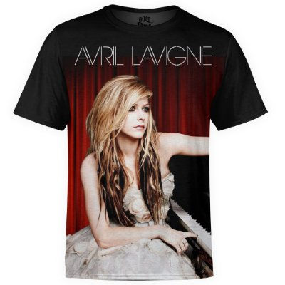 Camiseta masculina Avril Lavigne Estampa Digital md01