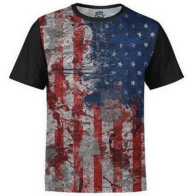 Camiseta masculina Bandeira EUA Estampa Digital md01