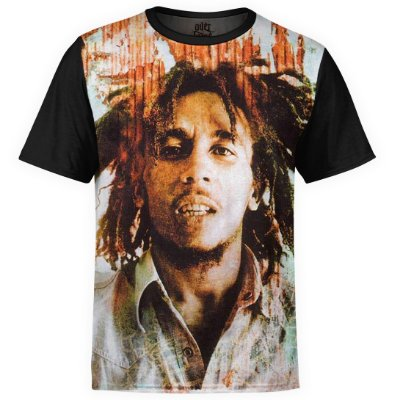 Camiseta masculina Bob Marley Estampa Digital md02