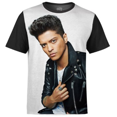 Camiseta masculina Bruno Mars Estampa Digital md02