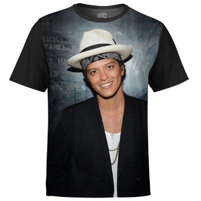 Camiseta masculina Bruno Mars Estampa Digital md03