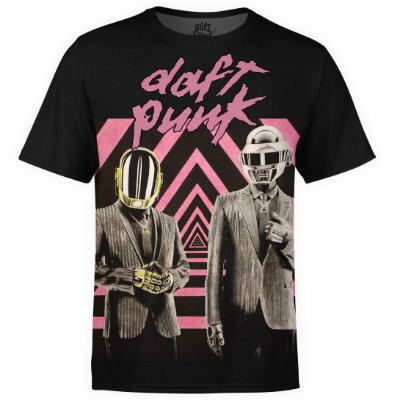 Camiseta masculina Daft Punk Estampa digital md01