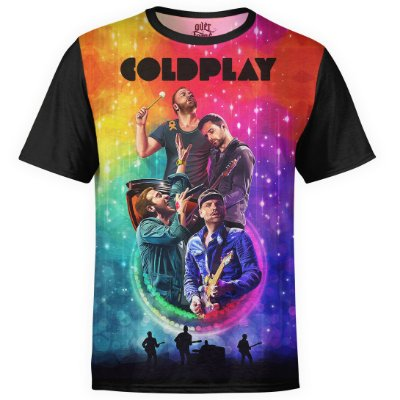 Camiseta masculina Coldplay Estampa digital md01