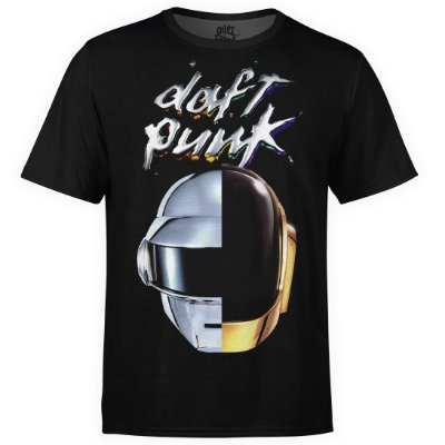 Camiseta masculina Daft Punk Estampa digital md03
